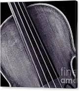 Photograph Of A Upper Body Viola Violin In Sepia 3369.01 Canvas Print