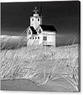 Photograph Of The Lighthouse Big Red In Holland Michigan Canvas Print