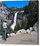 Photographer At Yosemite National Park Canvas Print