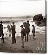 Photographer On The Beach California  Circa 1887 Canvas Print