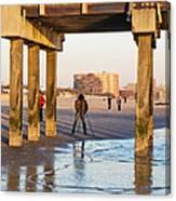 Photographer Under The Pier Canvas Print