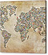 Photographer World Map Canvas Print