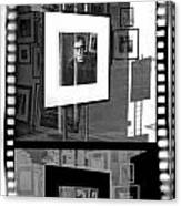 Photographic Artwork Of Woody Allen In A Window Display Canvas Print