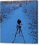 Photography In The Winter Canvas Print