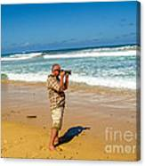 Photorgapher Near The Ocean Canvas Print