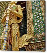 Phra Mondhop At Thai Pagoda At Grand Palace Of Thailand In Bangkok  Canvas Print