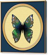 Phthalo Butterfly Canvas Print