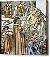 Physician & Plague Victim Canvas Print