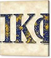 Pi Kappa Phi - Parchment Canvas Print