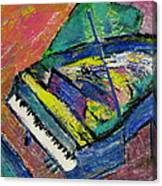Piano Blue Canvas Print