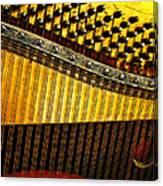 Piano Harp Canvas Print