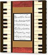piano keys sheet music to Keep Of The Promise by Kristie Hubler Canvas Print