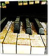 Piano Triptych Canvas Print