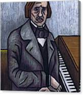 Piano's Finest Poet Fryderyk Chopin Canvas Print