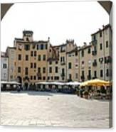 Piazza Del Mercato Lucca Canvas Print