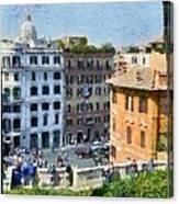 Piazza Di Spagna In Rome Canvas Print