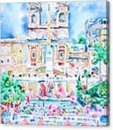 Piazza Di Spagna - Rome Canvas Print