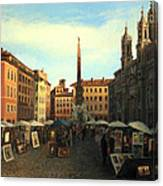 Piazza Navona In Rome Canvas Print