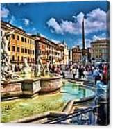 Piazza Navona - Rome Canvas Print