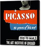 Picasso 40 Years Of His Art  Canvas Print