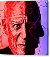 Picasso In Light Sketch 2 Canvas Print