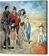 Picasso's Family Of Saltimbanques Canvas Print