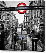 Piccadilly Circus Tube Station Entrance Canvas Print