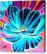 Pick Me Poppy Negative Canvas Print
