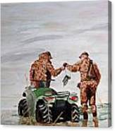 Picking Up The Decoys Canvas Print