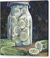 Pickled Cucumbers Canvas Print