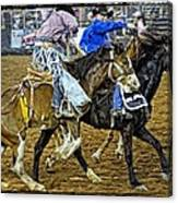 Pickup From The Bronc Canvas Print