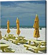 Picnic At The Beach Canvas Print