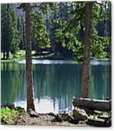 Picnic By The Lake Canvas Print