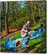 Picnic In The Nude Canvas Print