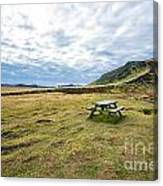 Picnic On Another Planet Canvas Print