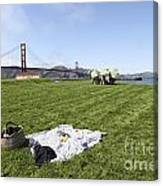 Picnicking At Golden Gate Park Canvas Print