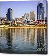 Picture Of Cincinnati Skyline And Ohio River Canvas Print