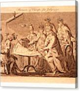 Picture Of Europe For July 1772, Catherine II Canvas Print