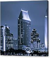 Picture Of San Diego Night Skyline Canvas Print