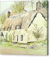 Picturesque Dunster Cottage Canvas Print
