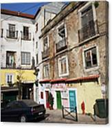Picturesque Houses In Lisbon Canvas Print