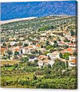 Picturesque Mediterranean Island Village Of Kolan Canvas Print
