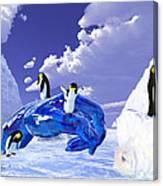 Piece Of Ice Canvas Print