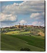 Pienza In The Afternoon Panorama Canvas Print