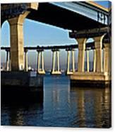 Pier 4- Coronado Bridge Canvas Print