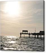 Pier 60  Near Sunset Canvas Print