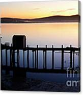 Pier At Bodega Bay California Canvas Print