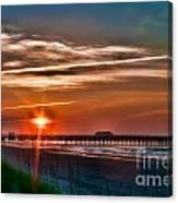 Pier At Dawn 167 Canvas Print