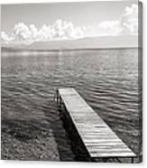 Pier At Lake Ohrid Canvas Print