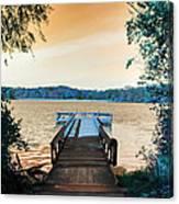 Pier At The Lake Canvas Print